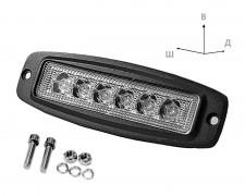 LED фар за панел 6 LED 18W mini