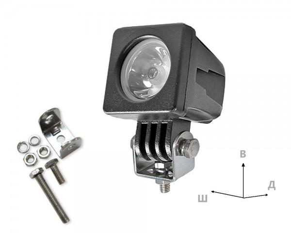 LED фар 10W квадрат насочен 6-24V