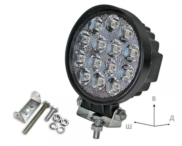 Работен LED фар със стойка 42W кръг насочен