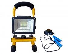 Акумулаторен LED прожектор 10W 24 led