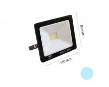 LED прожектор черен 10W 6000К