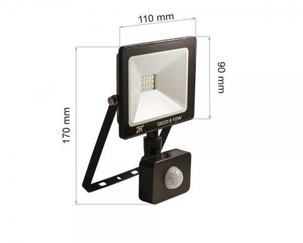 LED прожектор с PIR 10W 6000К